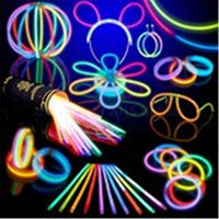 "100 8"" Glow Stick Bracelets,mixed Colors,100bracelet necklace Connectors,5 Pairs of Glow Glasses Connectors,1 Glow Ball/flower Kit,5 Hair Clip Barrettes = 1946128580"