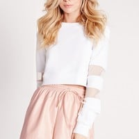 Missguided - Petite Elasticated Waist Faux Leather Shorts Blush