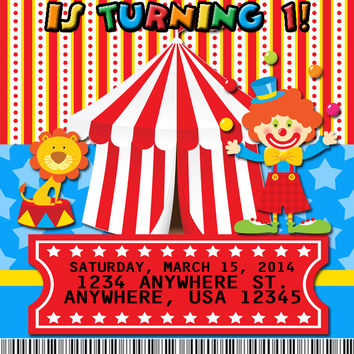Circus Carnival Birthday Party Favors