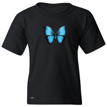 Zexpa Apparel™ Real 3D Morpho Didius Butterfly Youth T-shirt Animal Cool Cute Tee