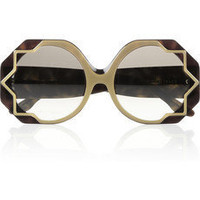 Cutler and Gross | Star-detailed round-frame acetate sunglasses | NET-A-PORTER.COM