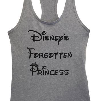 Womens Disney's Forgotten Princess Grapahic Design Fitted Tank Top