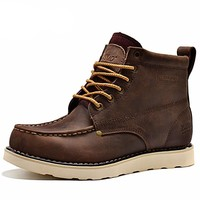 Casual Leather Ankle Boots for Men