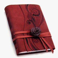 Passion Handmade Red Nubuck Suede Journal by Baghy on Etsy