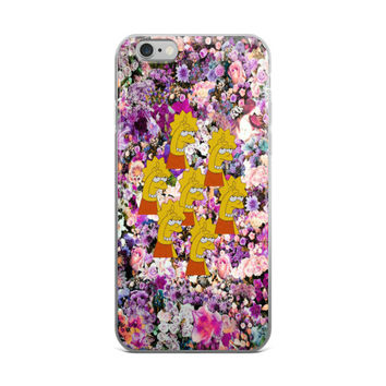 Lisa Simpson Loser L7 Purple & Pink Floral iPhone 4 4s 5 5s 5C 6 6s 6 Plus 6s Plus 7 & 7 Plus Case