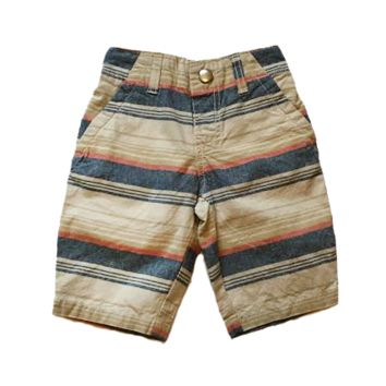 Striped Canvas Boy's Short