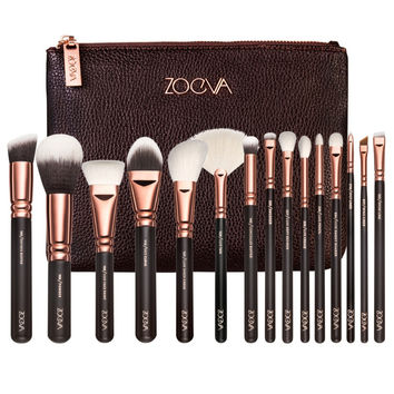 ZOEVA 15 PCS ROSE GOLDEN COMPLETE PROFESSIONAL MAKEUP BRUSH SET