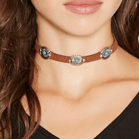 Etched Charm Choker