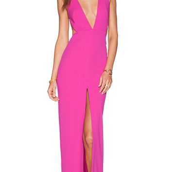 SOLACE London Irvin Maxi Dress in Pink