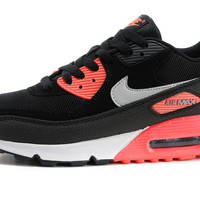 Womens Red & Black Nike Air Max 90 Running Shoes