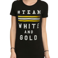 Team White And Gold Girls T-Shirt