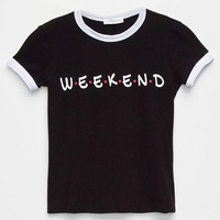 FULL TILT Weekend Girls Ringer Tee | Graphic Tees
