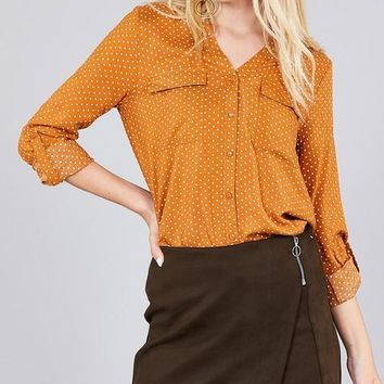 The Perfect Point Top - Cinnamon