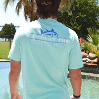 Southern Tide Southern Roots Custom Tee- Offshore Green