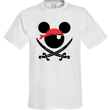 Pirate Mickey - Disney Cruise - Pirate Night Tee - With Personalization Option