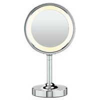 Conair® Double-Sided Lighted Makeup Mirror with 5X Magnification