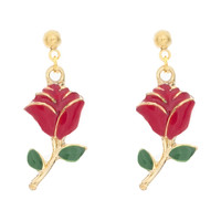 Rose Charm Earrings
