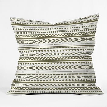 Allyson Johnson Green Aztec Throw Pillow