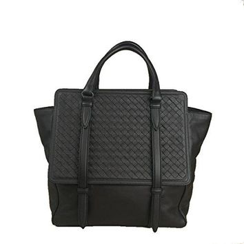 BOTTEGA VENETA Large Dark Brown Intrecciato Woven Nappa Leather Monaco Bag Handbag Purse Tote