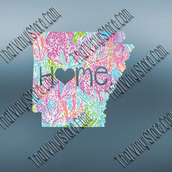 Arkansas Heart Home Decal | I Love Arkansas Decal | Homestate Decals | Love Sticker | 044
