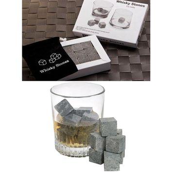 100% Natural Whiskey Stones 9pcs Set Sipping Whisky Stones for Whiskey Whisky Stone Whisky Rock Wedding Gift Favor Christmas Bar