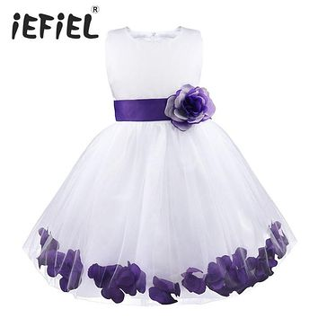 Childrens Flower Girl Petals Dress