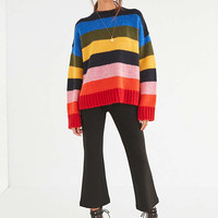 UO Kari Rainbow Striped Oversized Sweater | Urban Outfitters