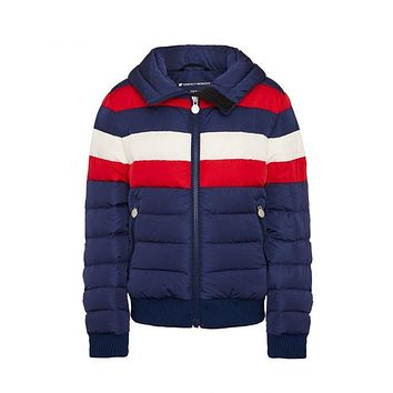 Perfect Moment - Kids' Padded Queenie Navy Red Snow White Jacket