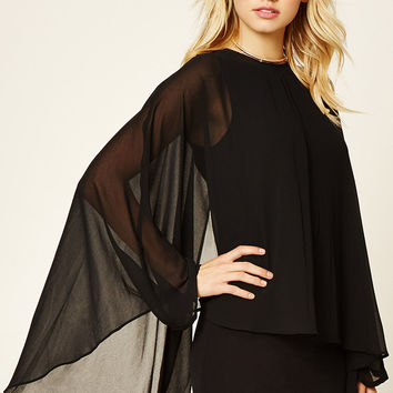 Contemporary Cape-Sleeve Dress