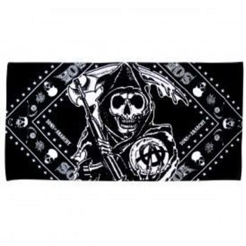 Sons of Anarchy Reaper Bandana Beach Towel - Sons of Anarchy - | TV Store Online