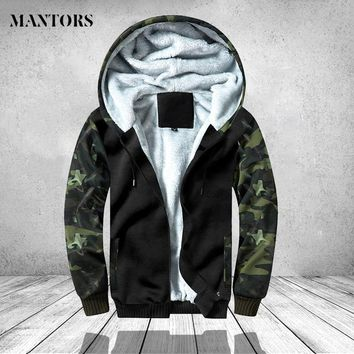 Trendy Winter Camouflage Jacket Men Casual Hoodies Warm Hooded Overcoat Male Army Patckwrok Bomber Jackets Mens Clothing Thich Outwear AT_94_13