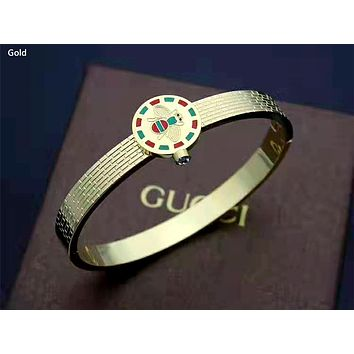 GUCCI 2019 new women's simple versatile bracelet gold