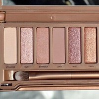 2014 New Hot Sale 12 Colors Eye Shadow Palette Makeup Decay Brush Nude Set
