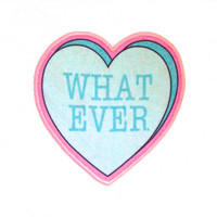 What Ever Insultation Heart Iron On Patch