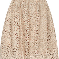 Karl Lagerfeld - Resi embroidered faux leather skirt