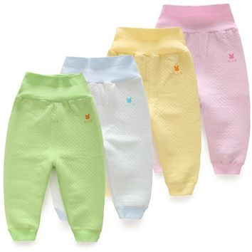 Unisex Baby Pants 2017 Spring Baby Girl Trousers Cotton Newborn Baby Clothes Kid Protect Belly Busha Pants Autumn Boy Pants