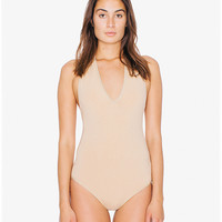 Cotton Spandex Halter Bodysuit | American Apparel