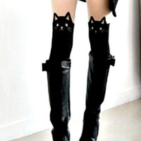 Puss in Boots Alley Cat Halloween Costume Idea Women 2014 Bad Luck Kitty Bad Cat Tattoo Panty Hose