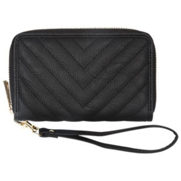 Chevron Quilted Wristlet