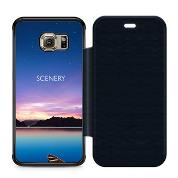 Beautiful Scenery Leather Wallet Flip Case Samsung Galaxy S6 Edge