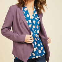 Sleek, Chic, and Totally Unique Blazer in Amethyst | Mod Retro Vintage Jackets | ModCloth.com