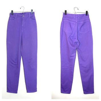 Purple Skinny Jeans High Waist Bongo Jeans 80s 90s Hipster Grunge Jeans size 5
