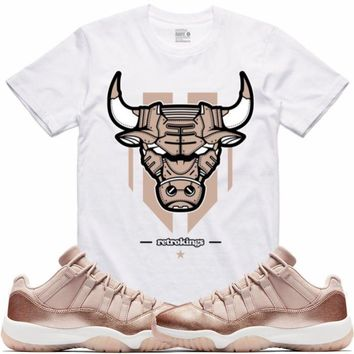 Air Jordan 11 Rose Gold Sneaker Tees Shirt - LEATHERFACE RK