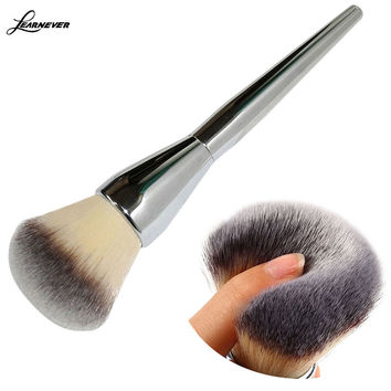 Very Big Beauty Powder Brush Blush Foundation Round Make Up Tool Large Cosmetics Aluminum Brushes Soft Face Makeup,