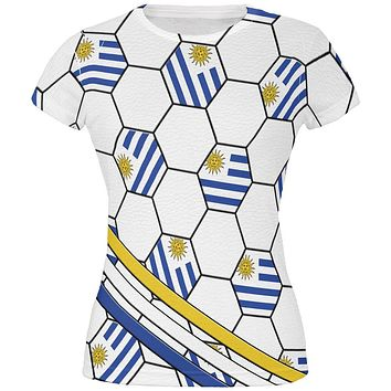 World Cup Uruguay Soccer Ball All Over Juniors T Shirt