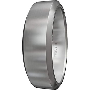 CERTIFIED 8MM Titanium Ring - Wedding Band & Promise Ring Hypoallergenic