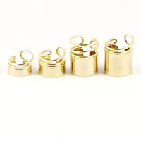 GOLD 4 FINGER TUBE RING SET