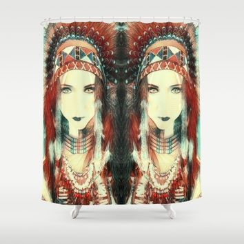 Cherokee Indian Spirit Shower Curtain by Art Appreciation