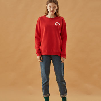Sad Girl Face Icon Sweatshirt