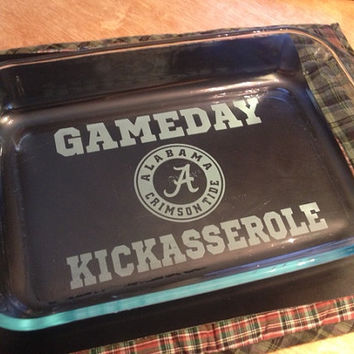 Alabama Crimson Tide   GAMEDAY Kickasserole Dish by UnCorkdArt